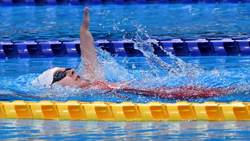 Moncton's Danielle Dorris finished fourth in the women's S7 200-metre individual medley for Canada at the Paralympic Games in Tokyo, Japan on Friday.