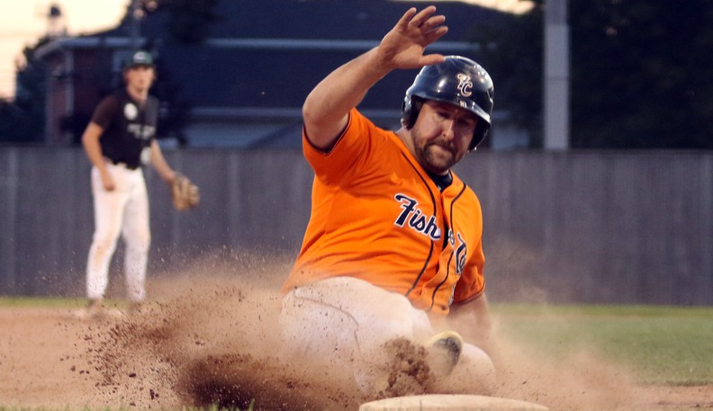 Serge Vautour and the Moncton Fisher Cats face the Chatham Ironmen in a New Brunswick Senior Baseball League semifinal playoff series.