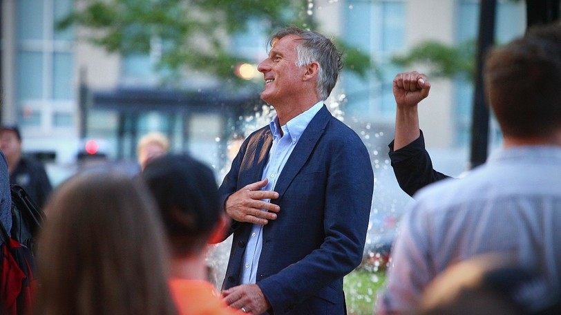 People's Party of Canada leader Maxime Bernier speaks at a rally in uptown Saint John earlier this month.