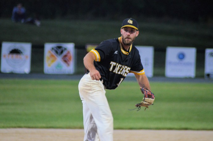 Ronnie Dickson earned his second win of the series on the mound for the Chatham Head Tigers in their 12-1 triumph over the Miramichi Mike's Bar and Grill Cardinals in Game 4 of the best-of-five Miramichi Valley Baseball League semifinals Friday at Memorial Field. The Tigers won the series 3-1, advancing to the league final.