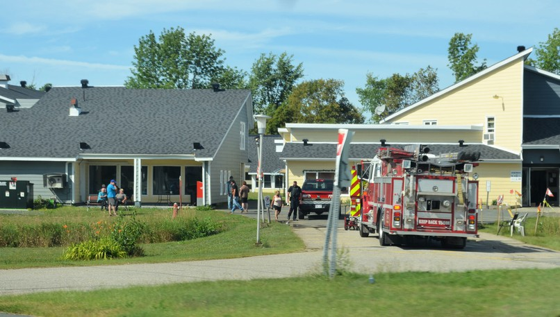 Emergency crews responded to a fire Sunday afternoon at the Tweedie Manor seniors' complex in Miramichi.