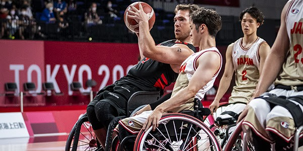 Rothesay's Colin Higgins had 14 points and four rebounds off the bench to help Team Canada advance to the quarter-finals in men's wheelchair basketball at the Tokyo 2020 Paralympics following a 63-52 win over Colombia.
