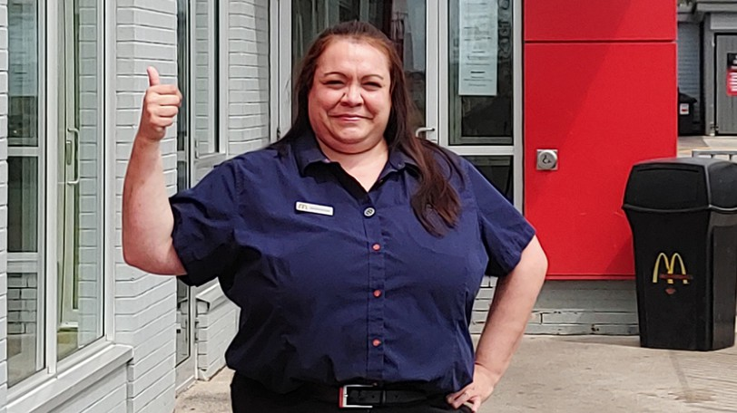 Marydean Basque, manager of the McDonald's Restaurant in Dieppe, has won a nationalOutstanding Manager of the Year Award for the second time, McDonald's Canada announced Monday.