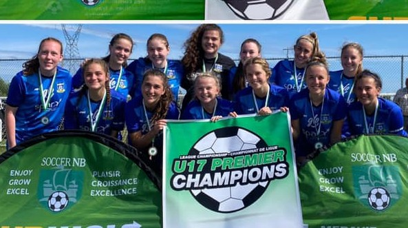 CS Dieppe won the New Brunswick under-17 girls' premiership soccer championship on the weekend in Fredericton.