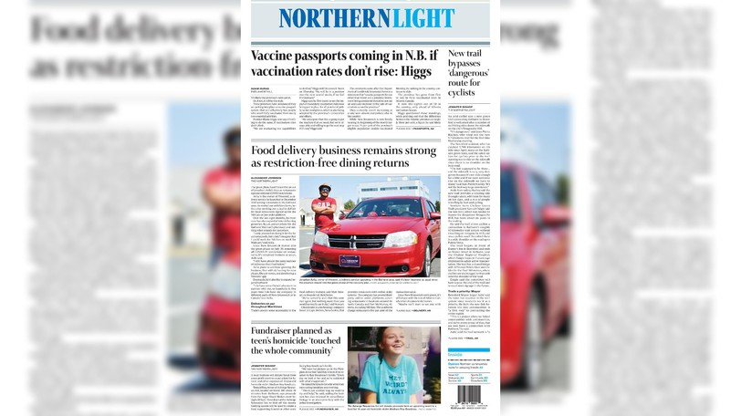 Pictured is the front page of the Aug. 31 edition of The Northern Light.