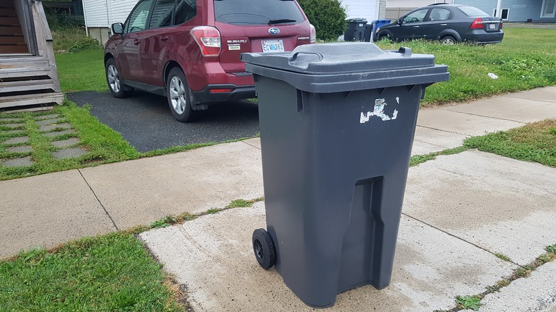 Campbellton is making changes to its garbage bylaw which will require all residences to use an approved garbage bin of this kind, with a limit of one per household. Pick-up will also be once a week except in summer, and some commercial residences which currently get pick-up from the city will be required to use commercial garbage removal.