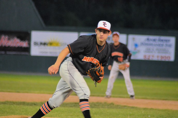 Pitcher Justin Cormier and the Moncton Fisher Cats lost 5-4 to the Charlottetown Islanders in Game 4 of the New Brunswick Senior Baseball League final on Friday in Charlottetown.