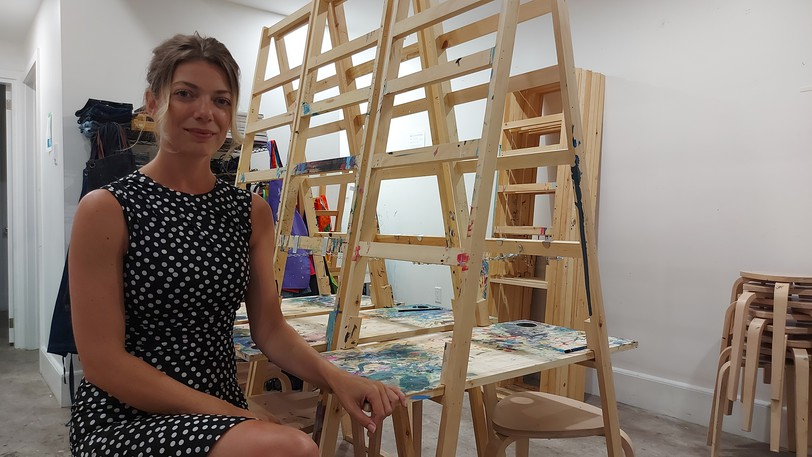 Hazel Cochran runs the Art Warehouse, which offers a public studio for amateur and professional artists.
