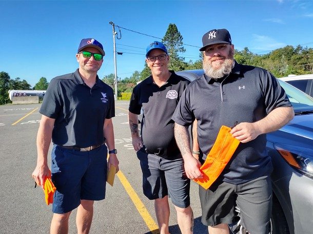 Derek Hewey, Sean Crossman and Gary Crossman are pictured here at the recent memorial golf tournament held in honour of Dickie Crossman. Friends and family continue to get together with other members of the Saint John community to raise money for P.R.O. Kids in his honour.