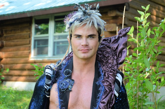 Moncton-born actor Eldon Thiele is starring in a film called SHUSH that is premiering at the FIN Atlantic International Film Festival on Sept. 23. He is shown outside his log cabin near Miramichi.