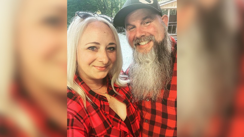 Cailin Richard and husband Corey Richard. The couple opened Beer Daddy BBQ in Hampton last weekend, with customers driving over an hour in some cases to check out the wood-fired barbecue food truck.