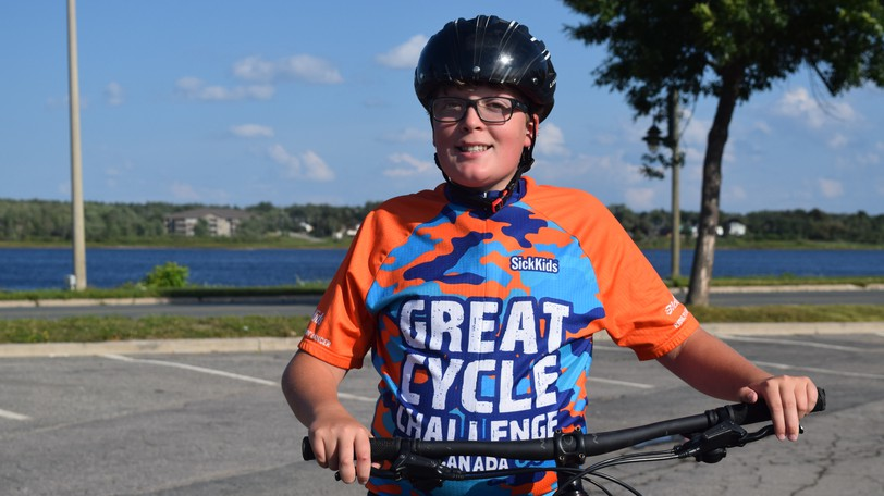 Samuel Spencer, 13, raised over $4,000 for cancer research by taking part in the Great Cycle Challenge.