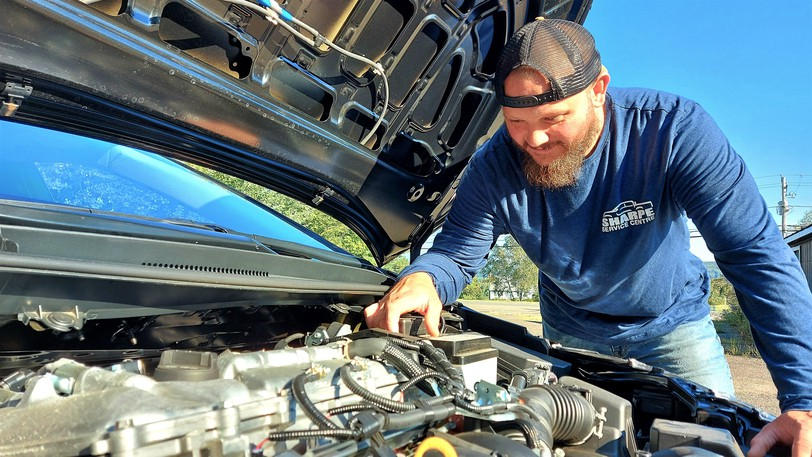After 17 years at Fredericton Toyota, mechanic Rob Sharpe has opened his own two-bay garage, Sharpe Service Centre, in Island View.