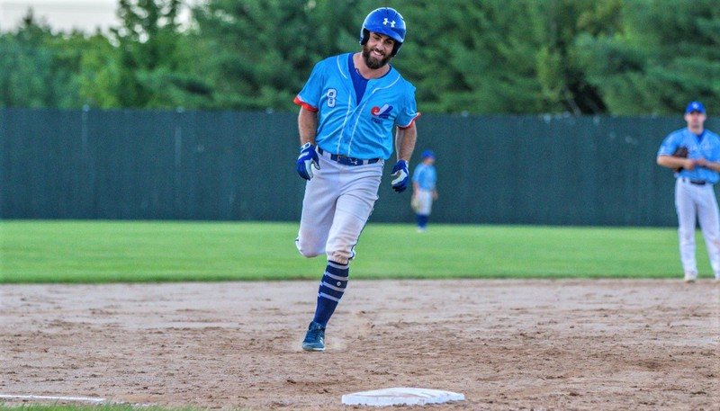 Mike Washburn homered for the second straight game to help the Jack's Pizza Expos push the Justin Morehouse Exit Realty Mariners to a fifth and deciding game in the Capital City Intermediate Baseball League final.