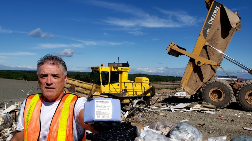 Fredericton Region Solid Waste manager of public relations and educationBrad Janes is asking the public not to throw rechargeable lithium batteries in their trash after a worker was injured by an exploding battery Monday.