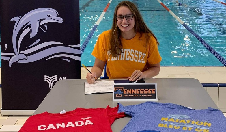 Riverview's Brooklyn Douthwright has landed an athletic scholarship to swim for the NCAA Division 1 University of Tennessee Volunteers.