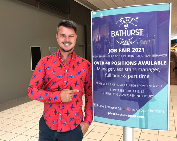Jason Noël, event producer and project manager for the upcoming Place Bathurst Mall Job Fair, said he hopes the event fills 40 job vacancies at the mall and others in the region. The job fair runs from Sept. 9 to 12.