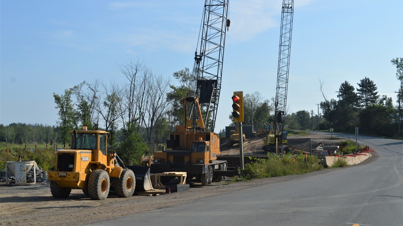 Construction continues on a new Odellach River Bridge in Arthurette. The existing structure will remain in service on Route 109 until the bridge is complete in 2022.