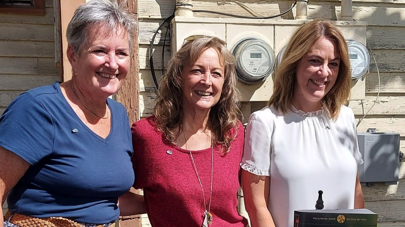 Lynn Nagle, president of Sophia Recovery's board of directors; Sheila Walker, regional program leader in St. Stephen; and Julie Atkinson, executive director of Sophia Recovery Centre, are pictured here at the centre's official opening of its St. Stephen location on Wednesday.