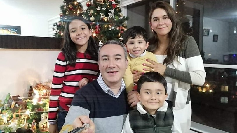 Monica Rojas and Jesus Rafael Ramirez with their children Alejandra Ramírez, 10, Camilo Ramirez, 3, and Juan Felipe Ramírez, 5. The family moved from Colombia to Miramichi so Ramirez could attend NBCC on Aug. 10, and continue to struggle to find a place to live.