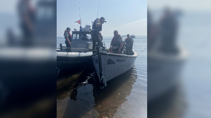 St. Mary's says the Department of Fisheries and Oceans seized a lobster boat piloted by a group of from the First Nation and provided this photo.