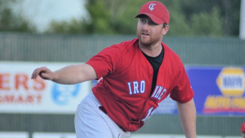Pitcher Jamie Walls and the Chatham Ironmen defeated the Moncton Fisher Cats 7-3 in a New Brunswick Senior Baseball League playoff game on Wednesday at Ironmen Field.