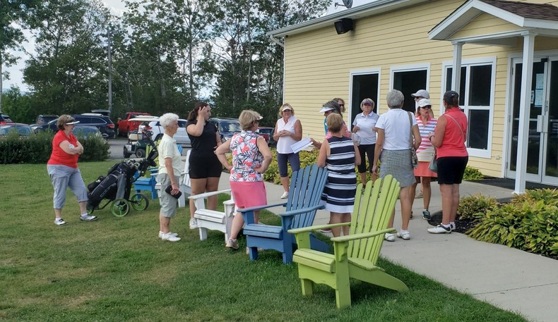 The women at the Restigouche Golf and Country Club held a ladies' day on Tuesday with more than 20 people taking part.