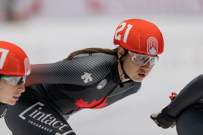 Moncton short track speed skater Courtney Sarault.