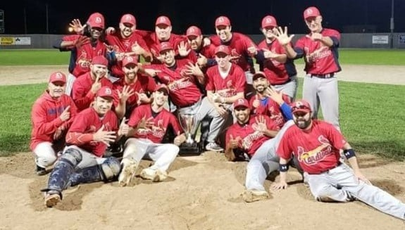 The Dieppe Cardinals captured their sixth consecutive Southern New Brunswick Baseball League championship on Wednesday.
