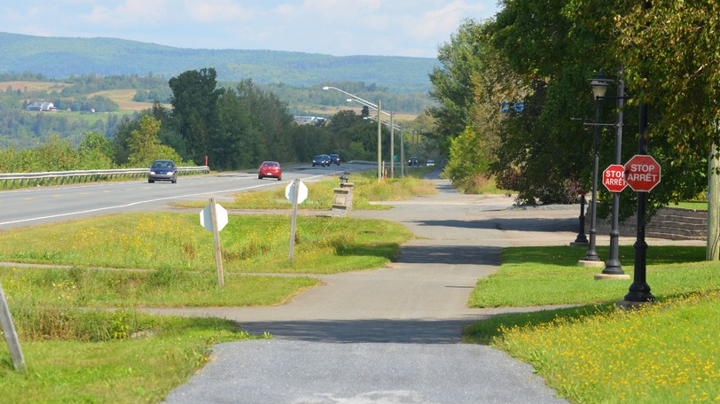 The NB Trail along Route 105 between the wards of Florenceville and Bristol. The town of Florenceville-Bristol is planning development for a multi-use pathway that would connect both ends of town for cyclists and walkers.