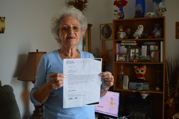 Marie Roy received a letter from property management company Canada Homes for Rent at the end of August stating her rent would increase from $580 to $1,150 monthly as of Dec. 1.