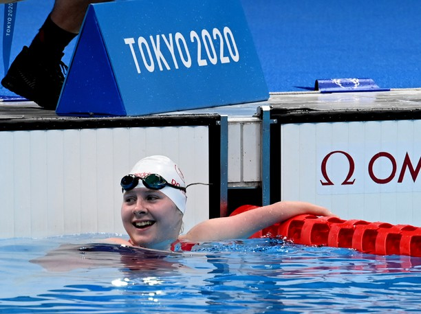 Canadian Swimmer Danielle Dorris wins gold in the women's 50m butterfly at the  2020 Paralympic Games in Tokyo, Japan.