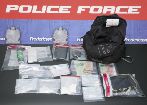 Police say they arrested a 46-year-old Fredericton man and seized drugs with a street value of more than $11,000.