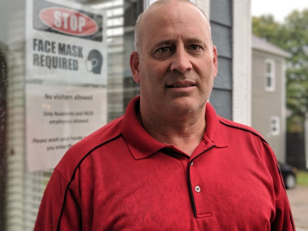 Greg Blizzard, CEO of Moncton Community Residences Inc., said he has safety concerns about what he believes is a homeless encampment on the neighbouring vacant property on Botsford Street. Last month, a fire on the property damaged the siding of his residence, which houses vulnerable seniors.