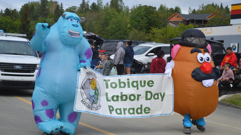 Sully from Monsters Inc., and Mr. Potato Head led the way down Main Street as Neqotkuk, Tobique First Nation, held its annual Tobique Labour Day Festival parade on Sept. 4.