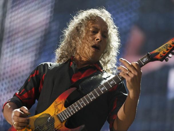 Lead guitarist Kirk Hammett of Metallica performs at Commonwealth Stadium in Edmonton on Aug. 16, 2017.