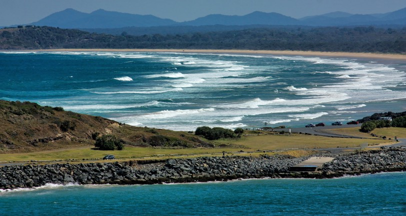 A surfer died after being attacked by a shark at Coffs Harbour, Australia on Sunday.