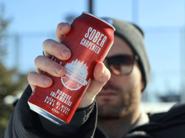 """Sober Carpenter is a non-alcoholic craft beer brewery created by two brothers. """"Now it's not a sacrifice anymore, it's a pleasure."""""""
