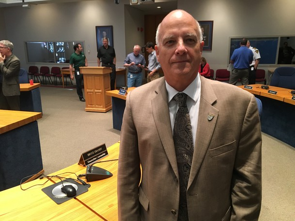 Fredericton Coun. Bruce Grandy, seen here in a file photo, says four meetings a year of the capital's public safety committee is not enough to deal with important issues like speeding and running red lights.