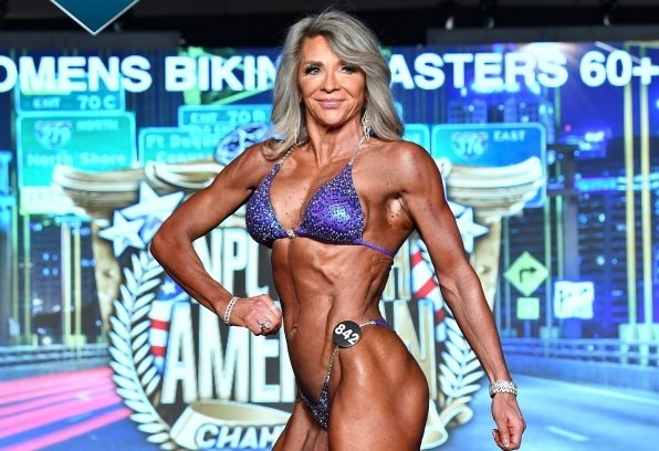 Fredericton's Sarah LaCosta, who turned 60 in May, won the women's bikini masters 60-and-over category and earned her IFBB pro card at the NPC North American bodybuilding championships on Saturday night in Pittsburgh. She also placed third in the masters 55-and-over category.