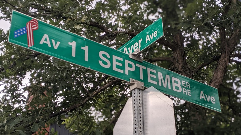 The service road connecting Ayer Avenue to the back parking lot of the Mocton Coliseum was named September 11 Avenue in honour of the people who helped travellers stranded in the city on Sept. 11, 2001.