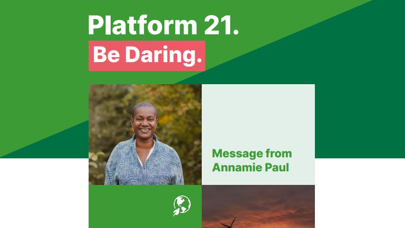 The cover of the federal Green party plaform.