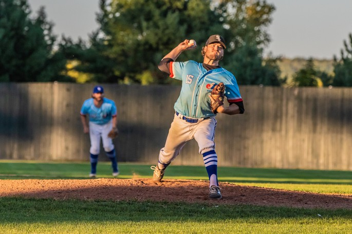 Winning pitcher Colby Lyle threw four strong innings to help the Jack's Pizza Expos to an 8-4 win over the Justin Morehouse Exit Realty Mariners and win a seventh straight Capital City Intermediate Baseball League title Tuesday night at Royals Field.