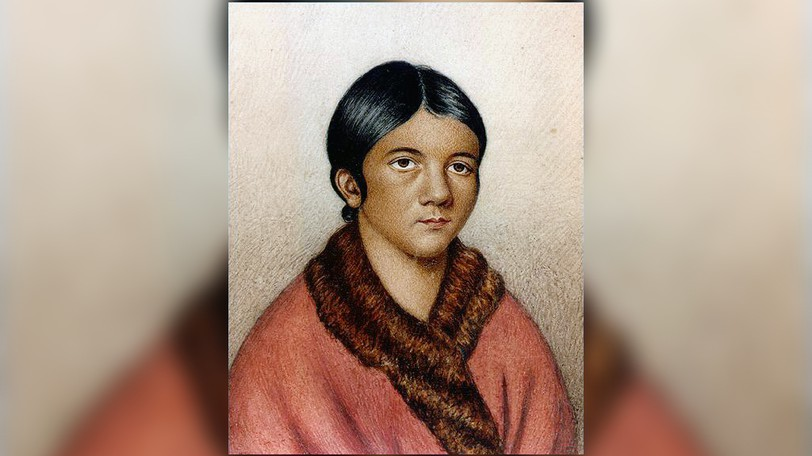 This painting is believed to be the only image recorded of Shanawdithit, the last known surviving Beothuk.