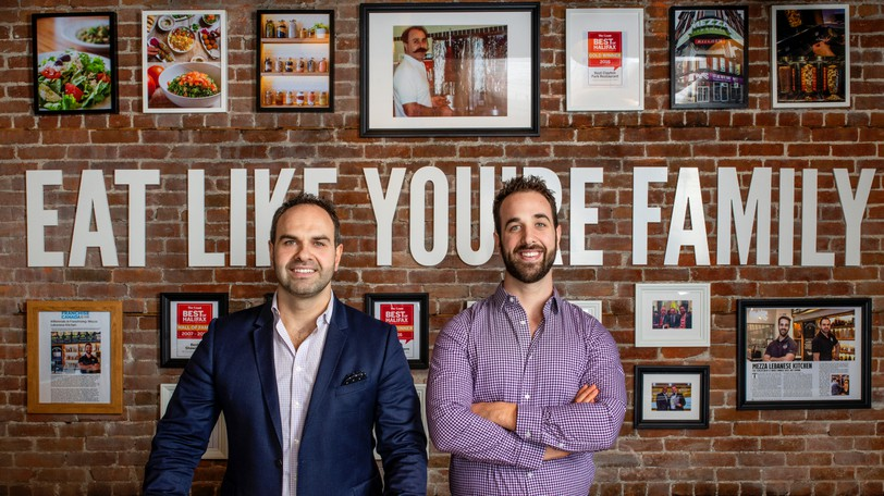 Mezza Lebanese Kitchen CEO and President Tony Nahas, left and Vice President, Business Development and Franchising Peter Nahas. The Nova Scotia restaurant chain is set to open 12 new locations throughout the Maritimes in the coming months.