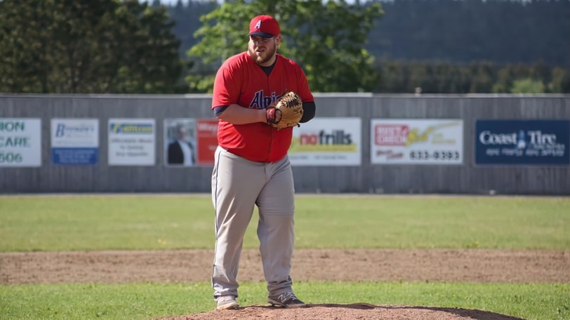 Shaun O'Toole pitched a complete-game shutout to lead the Saint John Alpines past the Charlottetown Islanders 1-0 in Game 6 of their New Brunswick Senior Baseball League playoff series Tuesday in Charlottetown. Game 7 goes Thursday.