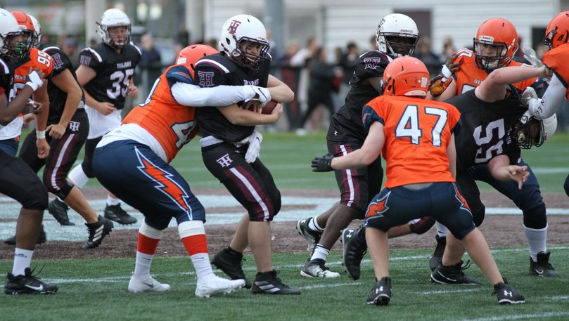 The L'Odyssée Olympiens and Harrison Trimble Trojans clashed in a New Brunswick High School Football League 12-a-side AA division exhibition game last week. Regular-season play in the league returns this weekend, after the 2020 season was cancelled because of the COVID-19 pandemic.