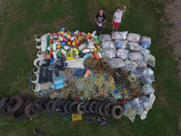 More than a tonne of trash was recently collected from Acadian Peninsula beaches.