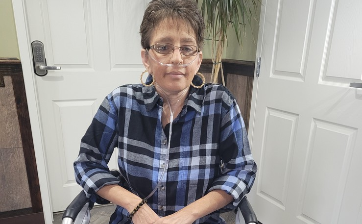 Wanda McCarthy of Grand Falls needs a double-lung transplant but can't be put on a waiting list for the surgery until she can find a volunteer support person to accompany her to Toronto. McCarthy has pulmonary fibrosis and needs supplemental oxygen 24 hours a day.