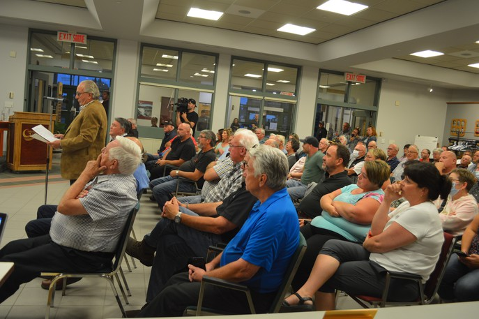 Dozens of people attended a public meeting in Grand Falls on Wednesday to discuss the future of the town's marina.